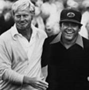 Jack Nicklaus, Lee Trevino, At The U.s Art Print by Everett