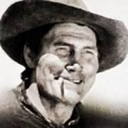Jack Palance, Vintage Actor Art Print