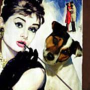 Jack Russell Terrier Art Canvas Print - Breakfast At Tiffany Movie Poster Art Print