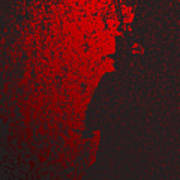 Jack The Ripper In Red Light Art Print