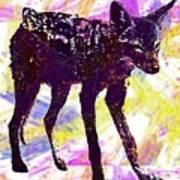 Jackal Children Watercolor Animal  Art Print