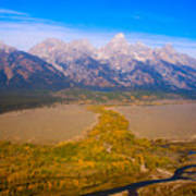 Jackson Hole Wy Tetons National Park Views Art Print