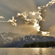 Jackson Lake Sunset View Art Print