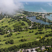 Jackson Park Golf Course In Chicago Aerial Photo Art Print