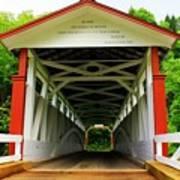 Jackson's Mill Covered Bridge Art Print