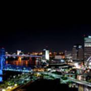 Jacksonville Fl At Night Art Print