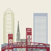 Jacksonville Skyline Poster Art Print