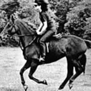 Jacqueline Kennedy, Riding A Horse Art Print