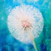 Jade Dandelion Art Print