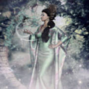 Jade Green Empress Art Print