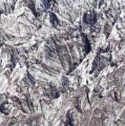 Jagged Glacier Art Print