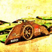 Jaguar Le Mans 2015, Race Car, Fast Car, Gift For Men Art Print