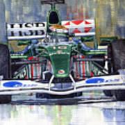 Jaguar R3 Cosworth F1 2002 Eddie Irvine Art Print