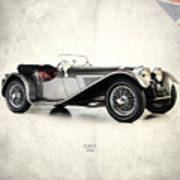 Jaguar Ss100 1936 Print by Mark Rogan