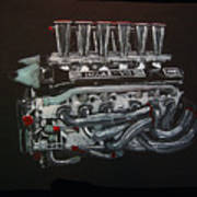 Jaguar V12 Twr Engine Art Print