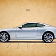 Jaguar Xk Art Print by Mark Rogan