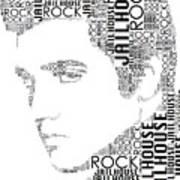 Jailhouse Rock Elvis Wordart Art Print