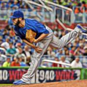 Jake Arrieta Chicago Cubs Pitcher Art Print