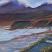 Jalama Beach At Sunset Art Print