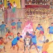 Jallikattu- The Bull Fight Art Print
