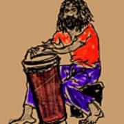 Jamaican Drummer Art Print