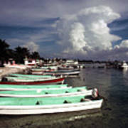 Jamaican Fishing Boats Art Print