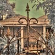 Jamaican Gate Print by Jane Linders