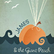 James And The Giant Peach Art Print
