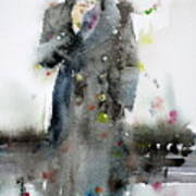 James Dean - Watercolor Portrait.3 Art Print