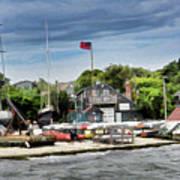 Jamestown Boat Yard Art Print