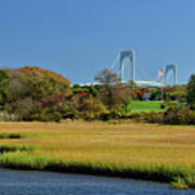Jamestown Marsh With Pell Bridge Art Print