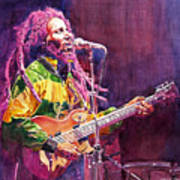 Jammin - Bob Marley Art Print by David Lloyd Glover