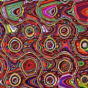 Janca Abstract Panel #097e10 Art Print