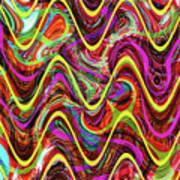 Janca Abstract Wave Panel #5at Art Print