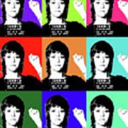 Jane Fonda Mug Shot X9 Art Print