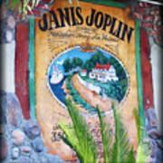 Janis Joplin In Concert Mural Art Print