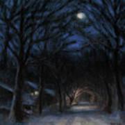 January Moon Art Print