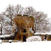 January Snow In England  Art Print