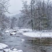 January Snow On The River Art Print