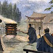 Japan: Cremation, 1890 Art Print