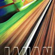 Japan, Japanese Railways, Travel Poster Art Print