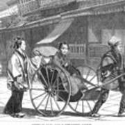 Japan: Rickshaw, 1874 Print by Granger