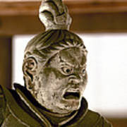 Japan: Warrior Statue Art Print