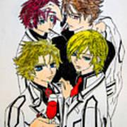 Japanese Anime Characters. Art Print