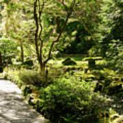 Japanese Garden At Butchart Gardens In Spring Art Print