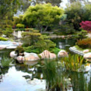 Japanese Garden Panorama 2 Art Print
