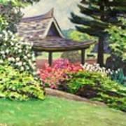 Japanese Garden-spring Blossoms Art Print
