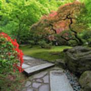 Japanese Garden Strolling Stone Path Art Print