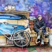 Japanese Homeless Art Print