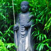 Japanese House Monk Statue Art Print